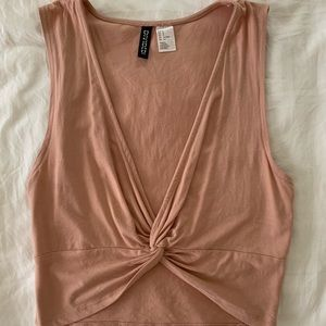 Forever 21 peach crop top